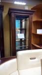 """Шкаф с витриной и Тумба для радиоаппаратуры """"Престиж"""" из массива березы  (Беларусь)"""